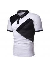 Versatile Turndown Neck Man Polo Shirts