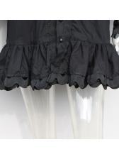 Boutique Smart Waist Long Lantern Sleeves Short Dresses