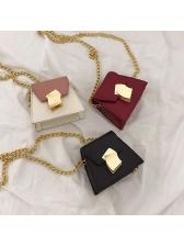 Irregular Trapezoidal Colorblock Crossbody Bag