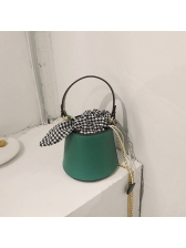 Hot Sale Plaid Bow Bucket Bag For Women
