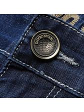 Business Straight Flexible Long Denim Pants For Mens