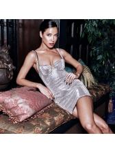 Night Club Solid Mini Sleeveless Dresses For Women