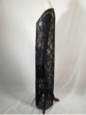 Characteristic Tassel Long Sleeve Black Long Cardigans