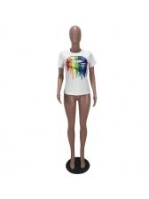 Crew Neck Short Sleeve T-Shirt Printing