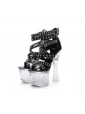 Chic Rivet Strappy Platform Sandals