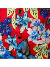 Characteristic Warm Color Plants Jacquard Weave Sleeveless Blazers