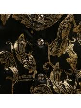 Night Club Single-Breasted Foil Printing Sleeveless Blazers