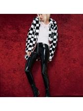 Euro Solid Zipper Pu Wholesale Long Pants
