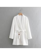 Simple Design Binding Lapel White Blazers