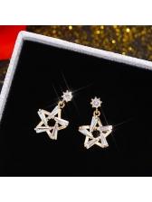 Hot Sale Zircon Star Shape Earring