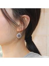 Easy Matching Rhinestone Round Earring