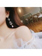 Baroque Gentle Style Rhinestone Long Earring