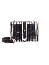 Striped Chain Transparent Mini Shoulder Bag