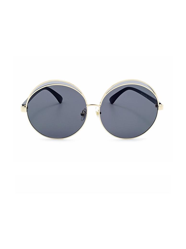 Proof UV Metal Frame Thin Round Sunglasses