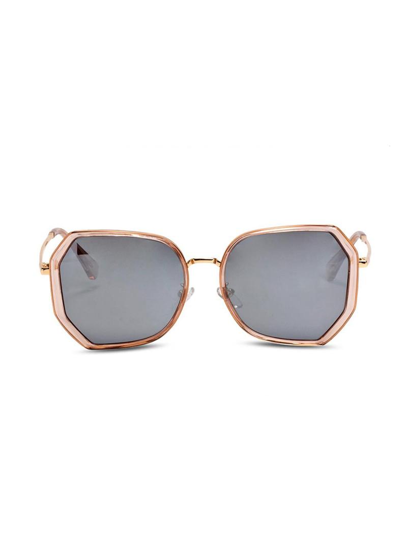 Graduated Color Polygonal Polarizing Sunglasses