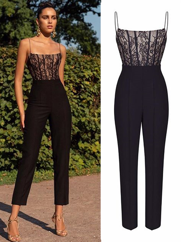 Sexy Lace Patchwork Sleeveless Women Jumpsuit