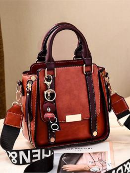Vintage Threaded Large Capacity Square Handbag