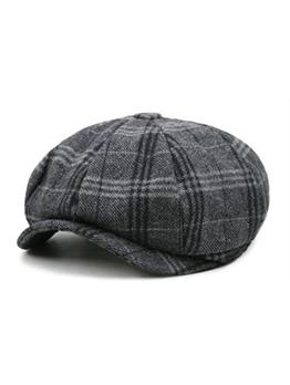 Vintage Plaid Unisex Newsboy Hat