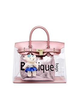 Cute Style Transparent Letter 2 Piece Handbag
