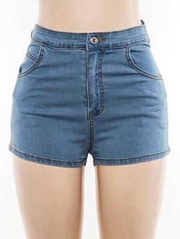 Euro Cross Belt Tie-Wrap Short Jeans