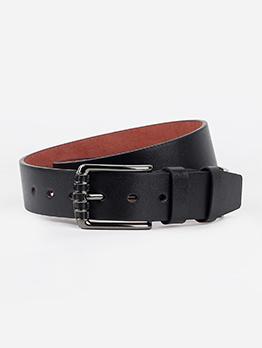 Fashion Metal Buckle Solid Pu Men Belt