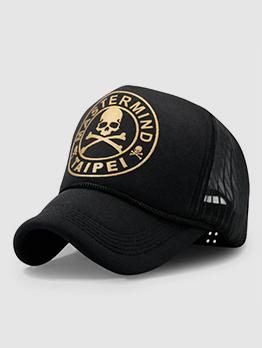 Leisure Skull Letter Design Trucker Hats