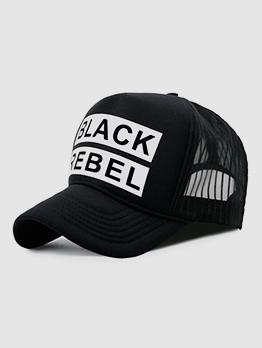 Letter Contrast Color Unisex Trucker Hats