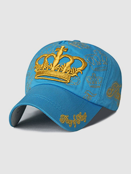 Casual Crown Embroidery Unisex Baseball Cap