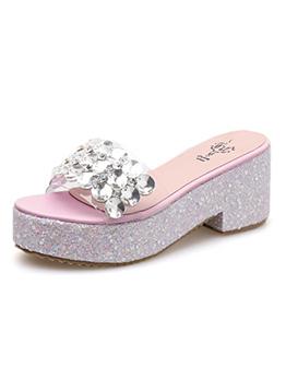 Korean Design Diamond Outdoors Clear Slippers
