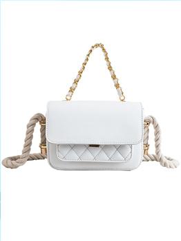 Simple Design Diamond Pattern Crossbody Bag