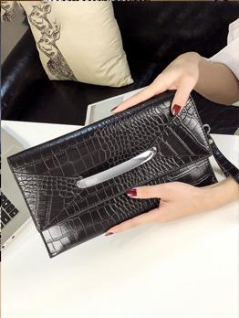 Casual Style Alligator Print Womens Clutch Bag