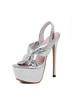 Fashionable Twist Solid Platform Stiletto Heels