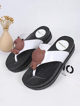 Summer Bear Flip Flop Beach Slippers