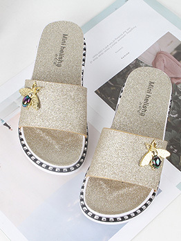 Easy Matching Bee Slide Slippers For Women