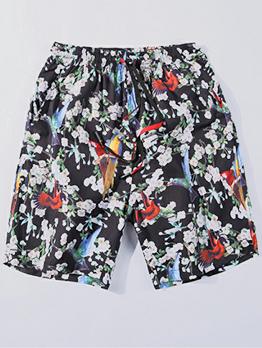 Stylish Printed Drawstring Mens Shorts