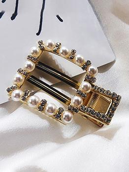 Pearls Geometric Design Hair Clip