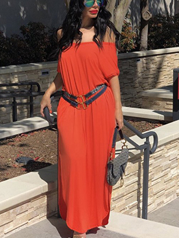 Hot Sale Summer Solid Maxi Dress