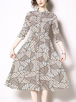 Euro Dots Print Elegant Dresses