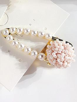 Korean Pearls Flower Design Hair Clip