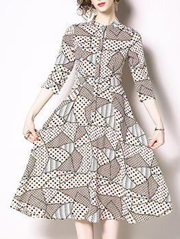 Streetwear Dot Printed Midi Dresses