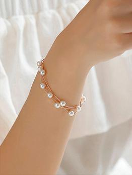 Korean Pearls Design Bracelet For Women