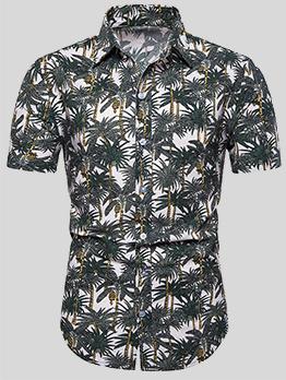 Summer Printed Short Sleeve Beach Hawaiian Shirt