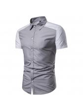 Raglan Sleeve Colorblock Fitted Short Sleeve Shirt