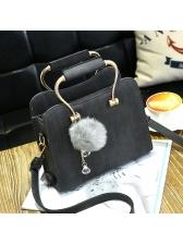 Simple Design Solid Square Shoulder Bag