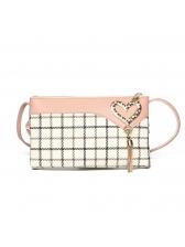 Summer Plaid Contrast Color Mini Crossbody Bag