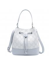 Contrast Color Drawstring Bucket Bag For Women