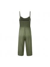 Fashion V Neck Cropped Sleeveless Jumpsuit