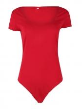 Simple Design Square Neck Solid Wholesale Bodysuits