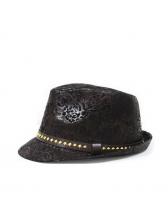 British Style Printed Rivets Fedora Hat