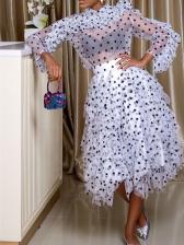 Fashion Polka Dots Bubble Skirt For Women